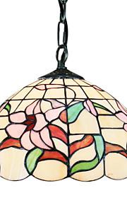 60W Tiffany Pendent Light mit 1 Licht in Blumenmuster