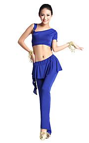 Buikdans Outfits Dames Opleiding Viscose Roesjes 2-delig Zwart / Blauw / Roze / Paars / Rood / Geel Buikdans Lente, Herfst, Winter, Zomer