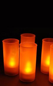 12 - LED Candle Light colore giallo caldo Wedding Candle o Regali feste