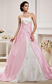 Lanting Bride® Robe de Soirée Petites Tailles / Grandes Tailles Robe de Mariage - Classique & Intemporel Colorées Traîne ChapelleSans