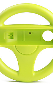 plastique contrôleur de volant de course pour Wii / Wii u (vert)