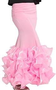 dancewear viscose med flæser latin dans nederdel til damer