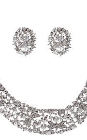 Licht Metaal Dames Sieraden set Bergkristal