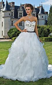 Lanting Bride® Robe de Soirée Petites Tailles / Grandes Tailles Robe de Mariage - Classique & Intemporel Scintillant & BrillantTraîne