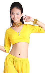 Dancewear Crystal Cotton With Beading Belly Dance Top For Ladies More Colors