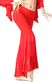 Dancewear Crystal Cotton With Beading Belly Dance Pant For Ladies More Colors
