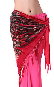 dancewear bomuld med pailletter ydeevne mavedans bælte til damer flere farver