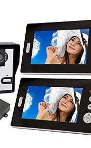 "Draadloze nachtzichtcamera met 7"" deurtelefoonmonitor (1 camera, 2 monitoren)"