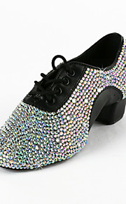 Non Customizable Kids'/Men's Dance Shoes Latin/Ballroom/Performance/Practice Shoes Leatherette Low Heel Black