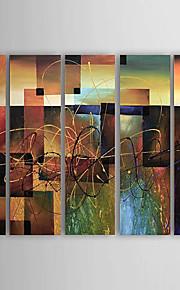 холст картины маслом набор 5 современных абстрактных красные блокировать ручная роспись холст картины готовы повесить