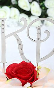 Décorations de Gâteaux Non personnalisée Monogramme Mariage / Commémoration / Fête prénuptiale / Bonbon seize / Anniversaire Stras Argent