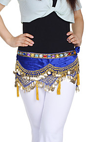 dancewear fluweel met munten / beading prestaties buikdans riem voor dames meer kleuren