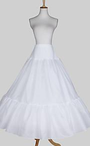 Nylon A-ligne de robe complète 3 Tier-parole longueur Slip Style / mariage jupons