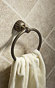 Simple ronde de style Antique Anneaux porte-serviettes en laiton