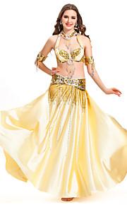 dancewear satijn buikdans prestaties rok voor dames meer kleuren
