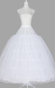 Déshabillés Robe de soirée longue Ras du Sol 3 Filet de tulle Taffetas Organza Blanc