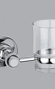 Contemporary Style Chrome Finish Brass Wall Mounted Toothbrush Holder