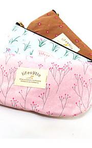 Textile Rural Flower Pencil Bag(Random Colors)