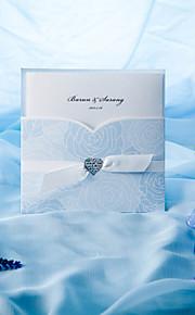 Elegant Blue Roses Tri-fold Wedding Invitation (Set of 50)