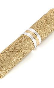 Sæt med 4 Luksus Golden Polyester Servietter
