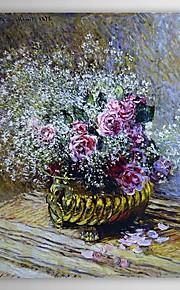 Pétrole célèbre tableau Fleurs dans un pot (également connu sous le nom Roses et souffle du bébé) par Claude Monet