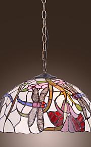 ERFTSTADT - Lüster Tiffany Floral mit 2 Glühbirnen