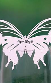 cartes de place et les détenteurs joli papillon en forme de carte de place pour le verre (ensemble de 12)