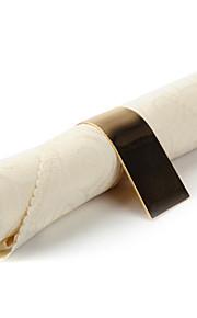 Set van 4 Beige Spiraal Polyester Servetten