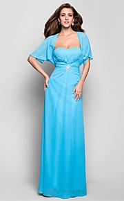 Robe - Bleu Soirée formelle/Bal militaire Fourreau Col en cœur Longueur ras du sol Mousseline polyester Grandes tailles