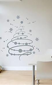 מדבקת קיר פתיתי שלג חג המולד