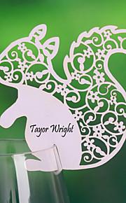 cartes de place et les détenteurs écureuil mignon en forme de carte de place pour carte verre de vin (ensemble de 12)
