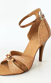 op maat van vrouwen kunstleer / sprankelende glitter latin / ballroom dans schoenen (meer kleuren)