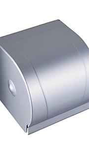 Aluminium Space étanche et anti-poussière Porte-rouleau de papier toilette entièrement clos