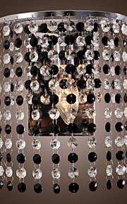 contemporains 1 lumière appliques murales avec cristal gouttes finition plaquent