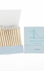 Wedding Décor Personalized Matchbooks Golden Gate-Set of 12 (More Colors)