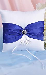 oreiller anneau splendeur avec ceinture bleu royal et strass