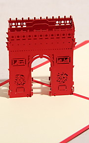 Three-dimensional Triumphal Arch Greeting Card