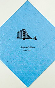 Personalized Wedding Napkins Golden Gate(More Colors)-Set of 100