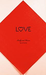 Boda personalizada servilletas Love (más colores) Juego de 100