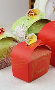boîte de bonbons de mariage floral (plus de couleurs), set de 12
