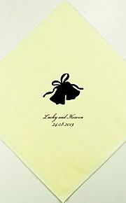 Campanas de boda personalizados Servilletas (más colores) Juego de 100