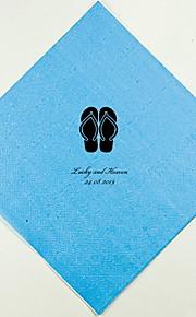 Servilletas de boda personalizados Flip-Flops (más colores)-conjunto de 100