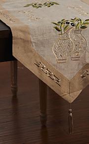 Средиземноморский стиль вышивки Цветочные Бегуны столовое белье