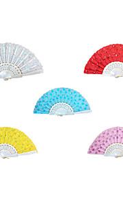 Delicate Sequins Hand Fan - Set of 6(More Colors)