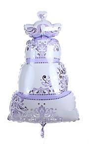 Wedding Décor Lilac  Cake Metallic Balloon With Love Birds on the Top
