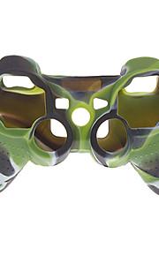 silikon tilfellet dekke for PS3-kontrolleren (kamuflasje farge)