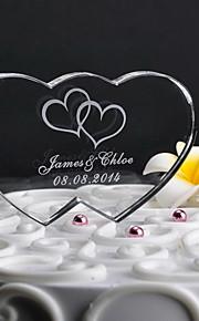 Decorazioni torte Personalizzato Cuori Cristalli Matrimonio / Anniversario Classico Confezione regalo