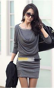 Women's Fashion Mini Dress Long Sleeve Slim Sexy OL Dress One-piece