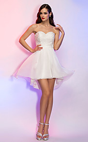 TS Couture® Cocktail Party / Holiday / Graduation Dress - Ivory Plus Sizes / Petite A-line / Princess Strapless / Sweetheart Asymmetrical