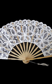 Floral White Lace Hand Fan